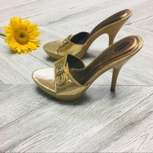 Dr. Scholl's | Feel Crazy Good Gold Zest Heels